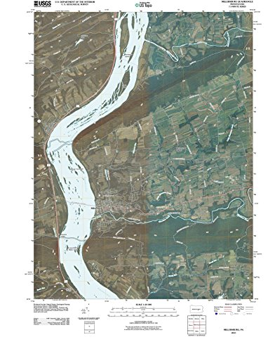 Pennsylvania Maps | 2010 Millersburg, PA USGS Historical Topographic Aerial Map |Fine Art Cartography Reproduction (Millersburg Pa)