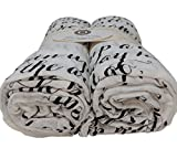 Scripture Strong Proverbs 22:6 | Best Muslin Baby Swaddle Blanket Gift Set | 100% Cotton Receiving Blankets | Extra Large (4'x4') | Brown, 2 Pack
