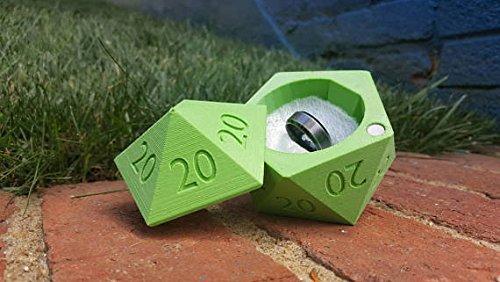 D20 Ring BoxALL 20s 3D Printed Wedding Ring Box