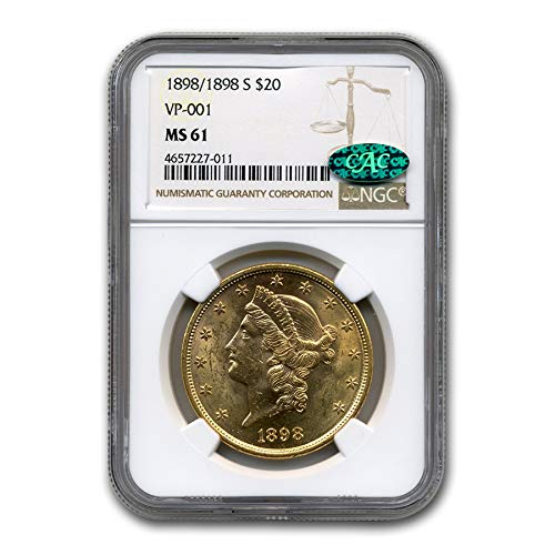 1898 S / 98-S $20 Liberty Gold Double Eagle MS-61 NGC CAC (VP-001) G$20 MS-61 NGC