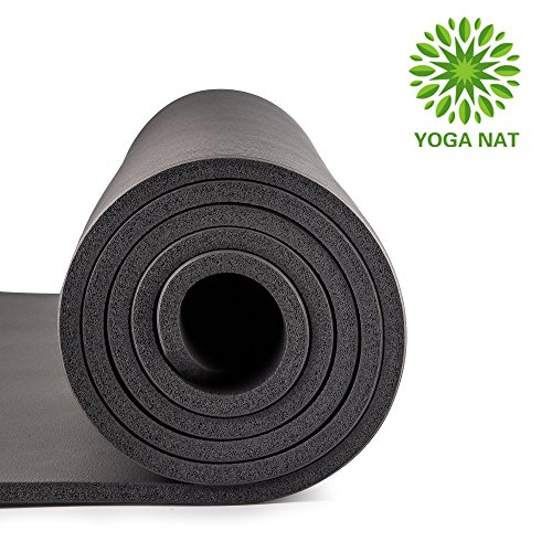 "Yoga Mat Yoga Nat Mat 2/5"" Thickness 72"" Long 24"" Wide NBR Multiple Use Exercise and Yoga Mat with Carrying Travel Bag and Strap"