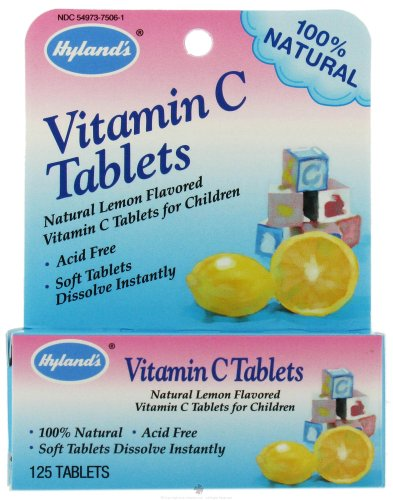 - Hyland's Vitamin C For Babies Tabs, 125 ct