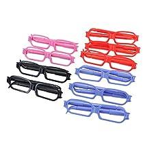 10pcs Creative Glasses Shape 0.5mm Ball Pens Student School Writing Ballpens