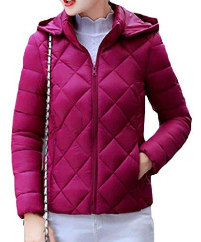 Short M Long Coat Down 3 Women's Fashion amp;S Sleeve S amp;W Hooded Slim SIq8wSr