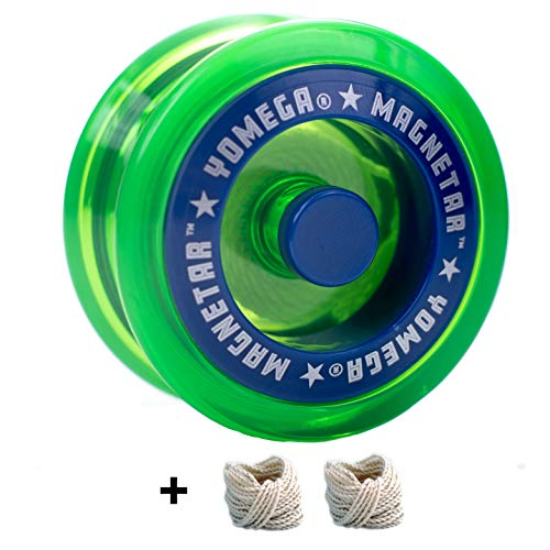Yomega Magnetar Responsive High Performance Ball Bearing Yoyo for Kids, Designed for Beginners and Advanced String Trick and Looping Play. + Extra 2 Strings. + 3 Months Warranty (Green) (Yomega Raider Yo Yo)