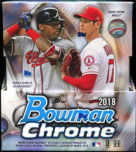 2018 Bowman Chrome Hobby Box (12 Packs/5 Cards: 2 Autographs/Box)