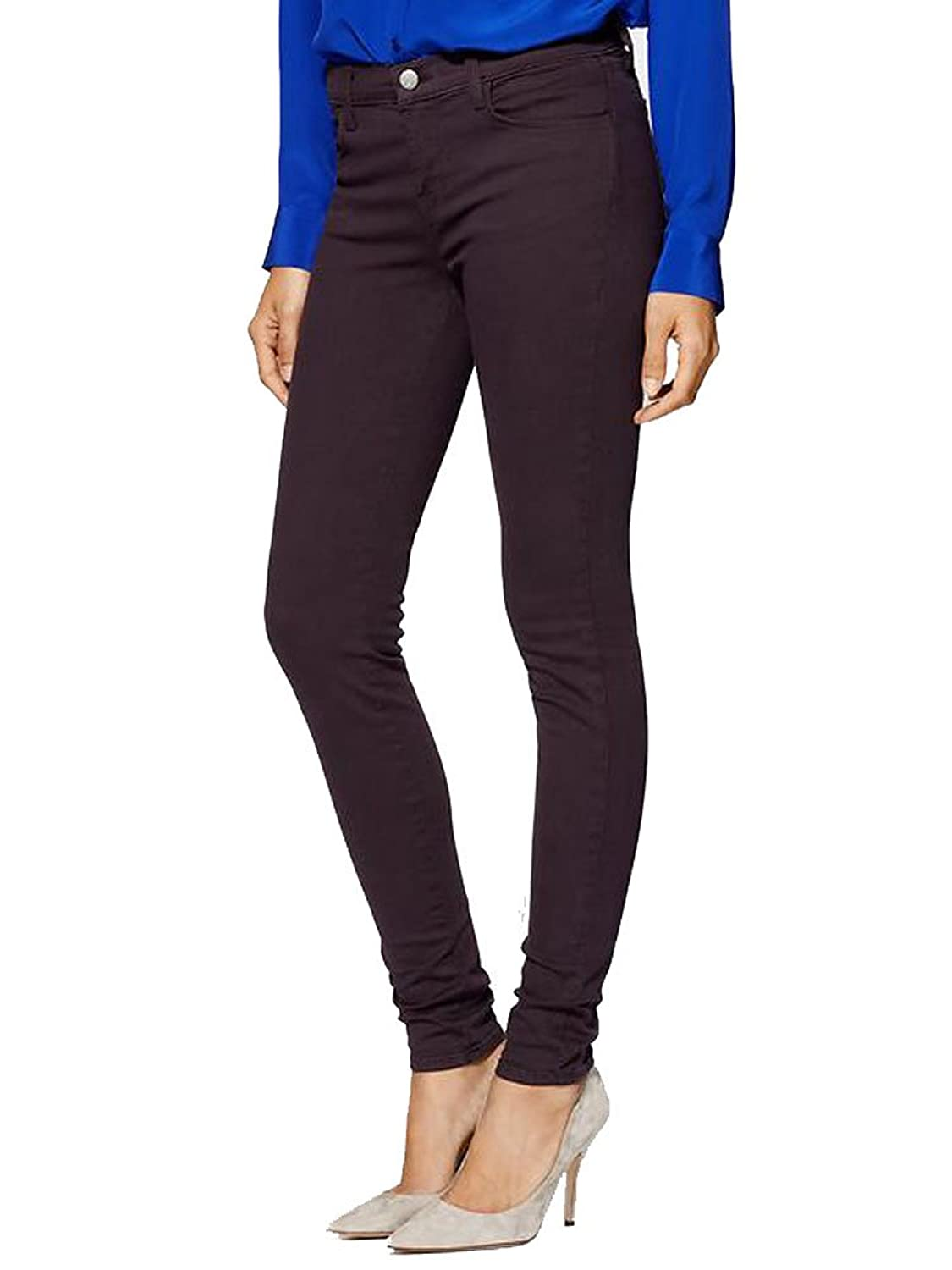 J Brand, Mid-Rise Super Skinny Jeans, Vin Mulberry, Size 32