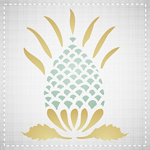 Retro Art Scrapbooking Paper - Pineapple Stencil (Size: 3.25