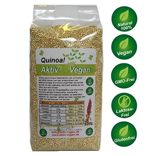 Quinoa 1000g 1kg 2x500g frisch Vegan 100% Natural Glutenfrei Frisch