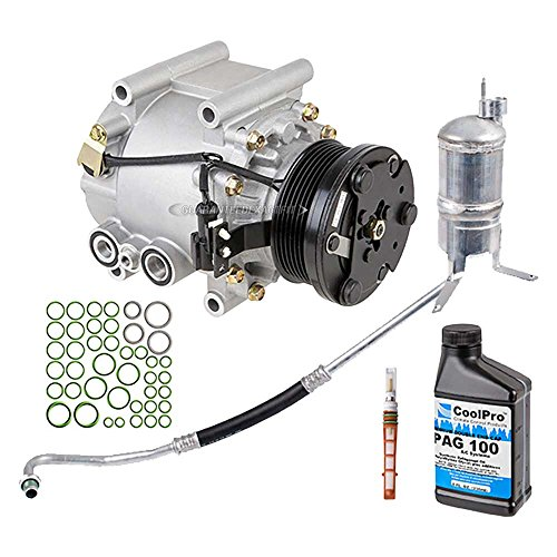 New AC Compressor & Clutch With Complete A/C Repair Kit For Jaguar X-Type - BuyAutoParts 60-80274RK New by BuyAutoParts