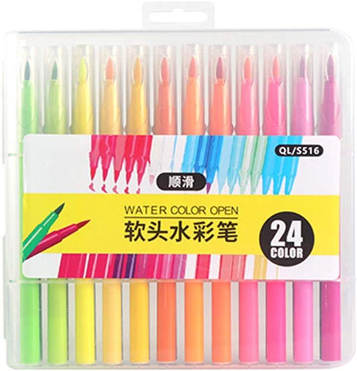 12 CADANIA 24//12//36//48 Colores Pincel Suave Acuarela Rotulador Rotulador Dibujo Dibujo Caligraf/ía