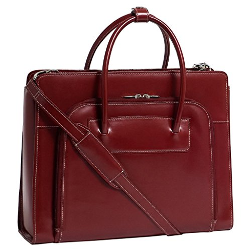 The red Series Lake Forest Leather Laptop Briefcase