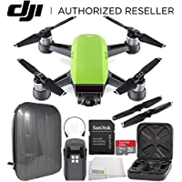 DJI Spark Portable Mini Drone Quadcopter Hardshell Backpack Starters Bundle (Meadow Green)