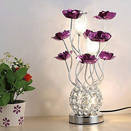 WZHZJ Flower Lamp Night Light Centerpiece Table Lamp Home Decor for Valentine's Day,Party,Festival,Wedding Warm