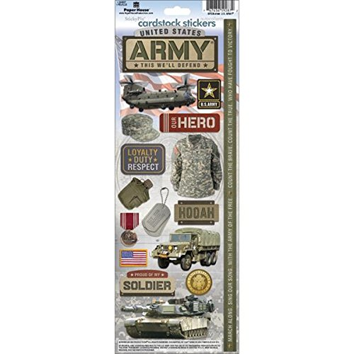 Paper House STCX196E Cardstock Stickers, Army ()