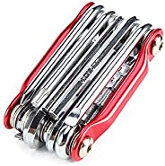 Yosoo Portable 11 in 1 Hex Wrench Set Muti-Tool for Cycling Bicycle Bike Repair,(Allen Key/Hex Wrench,Philips