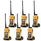 Walkie Talkie, Sanzuco 20 Channel Hands Free 2 Way Radios up to 2.5 Miles Long Range Rechargable Interphone for Outdoor Camping Hiking(orange,pack of 6)