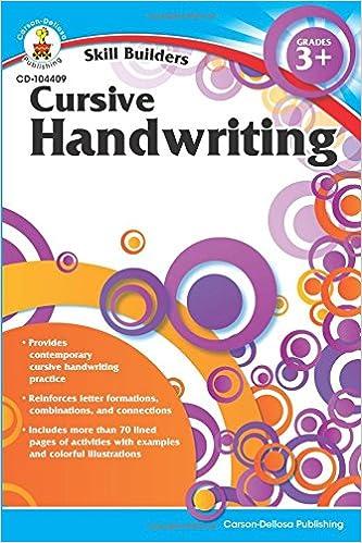 Cursive Handwriting, Grades 3 - 5 (Skill Builders): Carson-Dellosa ...