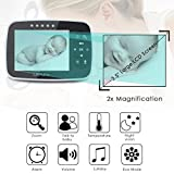 "(Upgraded Version) Video Baby Monitor, LAPUTA 3.5"" Large LCD Screen Display with Night Vision Camera, Two Way Talk Audio, Temperature Sensor, ECO Mode, Lullabies and Long Transmission Range"