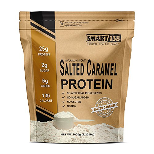 Salted Caramel Natural Protein Powder, Gluten-Free, Soy-Free, USA, Keto (Low Carb), Natural BCAAs