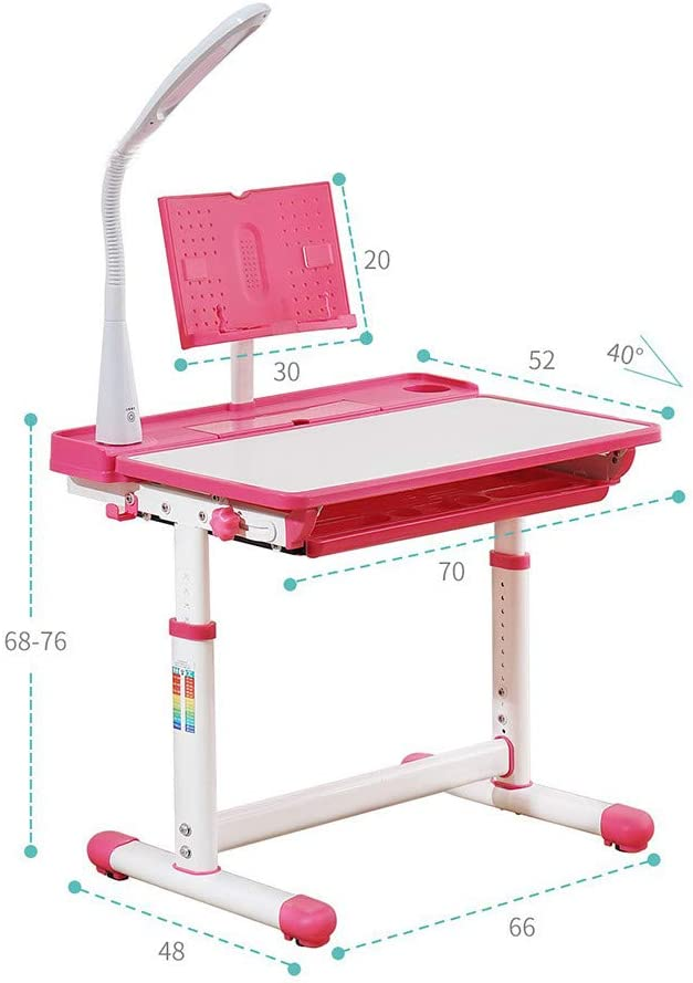 Blue Home Kids Small Assembly Study Table Can Be Lifted and Lowered Desk Plastic Work Table
