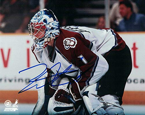 David Aebischer Autographed/Signed Colorado Avalanche 8x10 Photo