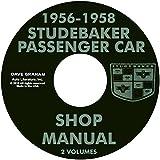 COMPLETE 1956 1957 1958 STUDEBAKER CAR'S REPAIR SHOP & SERVICE MANUAL CD