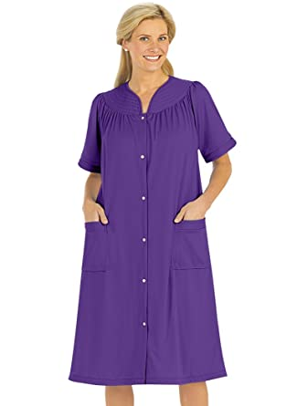 Snap-Front Duster at Amazon Women s Clothing store  a0e3a52d4