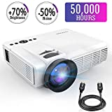 Mini Projector,2018 Upgraded LED Video Projector +70% Brighter,176'' Display Portable Home Theater Projector Support 1080P Compatible with HDMI VGA AV USB TF Xbox Amazon Fire TV Stick