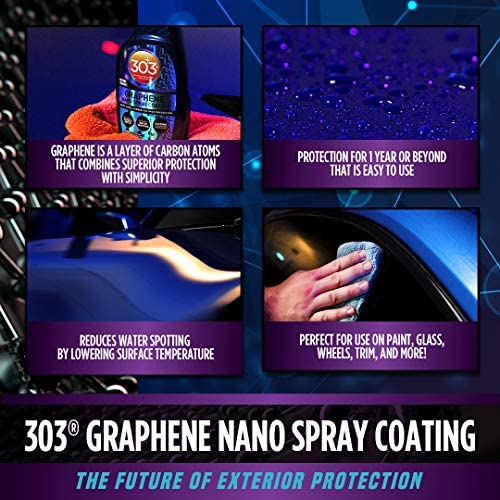 303 Graphene Nano Spray Coating - Next Level Carbon Polymer Protection - Enhances Gloss and Depth - Reduces Water Spotting - Extreme Hydrophobic Protection - Beyond Ceramic, 15.5 fl. ounces. (30236CSR)
