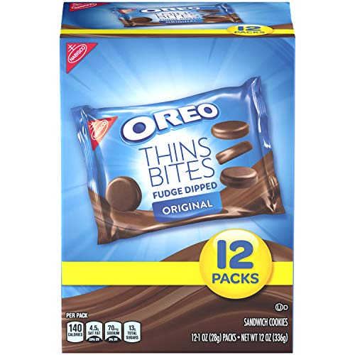 OREO Thin Bites Fudge Dipped Original Cookies, 4 12oz. packages
