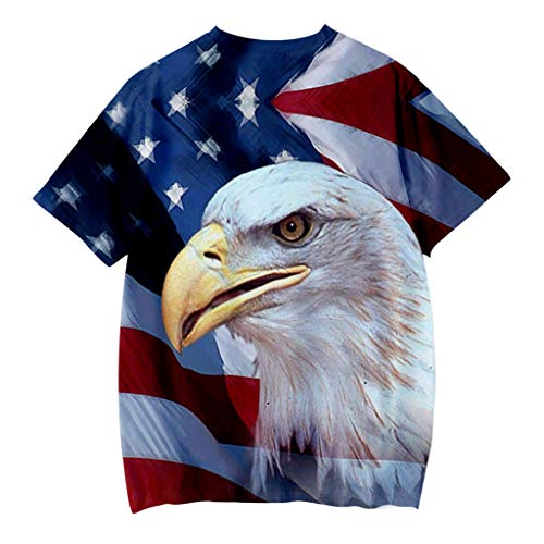 - KASSD Tops for Baby Boy, Blouses T Shirt Toddler Kids 4th July 3D Print Independence Day Casual Blue