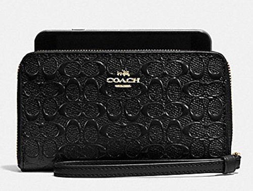 Coach Signature Embossed Phone Wallet Clutch - #F54769 by Coach