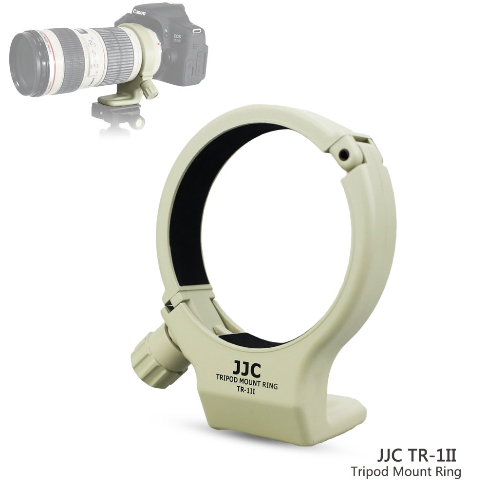 JJC Tripod Collar Mount Ring for Canon EF 70-200mm f/4L & Canon EF 70-200mm f/4L is Lens, Replaces Canon Tripod Mount Ring A-2