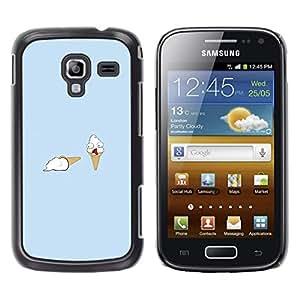 EJOY---Cubierta de la caja de protección la piel dura para el / Samsung Galaxy Ace 2 / --Helado Asesinato divertido