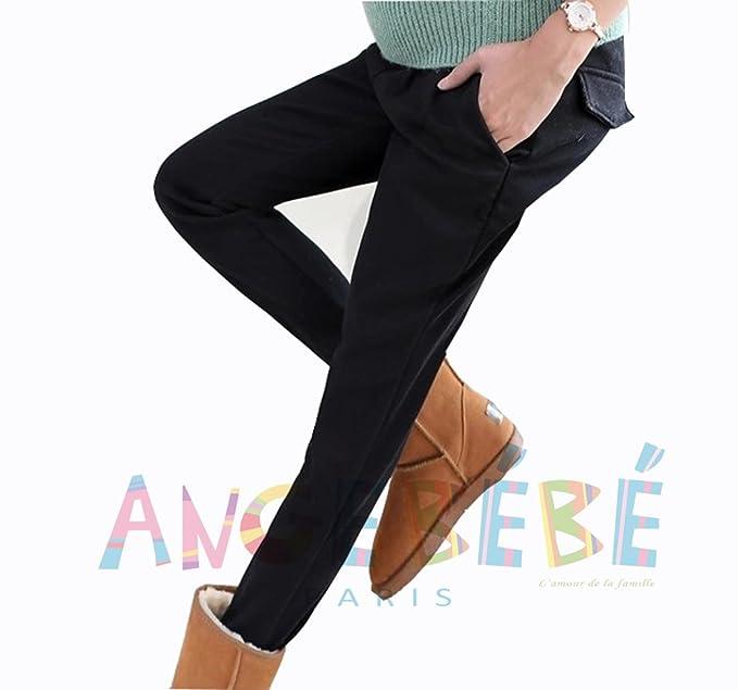 Angebébé – Pantalón de embarazo – Pantalón para mujer altavoz – Pantalón de escritorio Negro negro