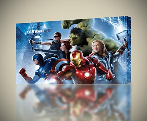 The Avengers CANVAS PRINT Wall Decor Giclee Art Poster Iron Man Hulk Thor CA500, Regular