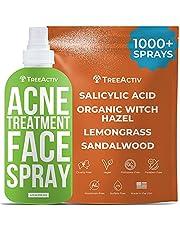 TreeActiv Acne Eliminating Face Spray, Facial Toner, Tone & Balance Skin, Lemongrass Water, Sandalwood Water, Witch Hazel, Salicylic Acid, Works as Aftershave, Made in USA, 4 fl oz