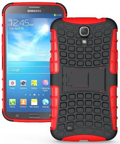 NAKEDCELLPHONE RED GRENADE RUGGED TPU SKIN HARD CASE COVER STAND FOR SAMSUNG GALAXY MEGA 6.3 (AT&T, Sprint, MetroPCS, US Cellular, Unlocked, i9200, i9205, - Cases Galaxy Att Mega Samsung