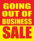 Going Out Of Business Sale 18''x24'' Store Business Retail Discount Promotion Signs, 5 Pack