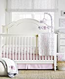 Wendy Bellissimo 4pc Nursery Bedding Baby Crib Bedding Set - Elephant Crib bedding from the Elodie Collection in Grey and Pink