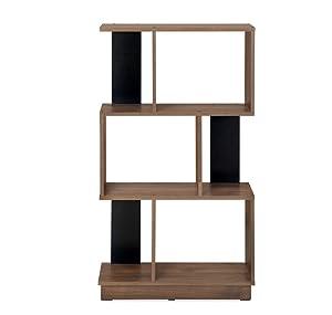 @home by Nilkamal Checkers 3 Tier Book Shelf (Melamine Finish, Walnut)