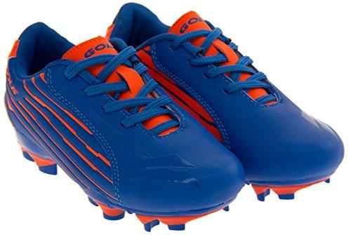 Gola Activo 5 Niños Zapatos de Fútbol de Césped Artificial Azul / Naranja