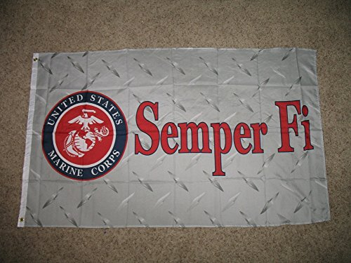 3x5 USMC Semper Fi Marines Doublesided 2Ply Flag 3'x5' Banner with Brass Grommets by RFCO
