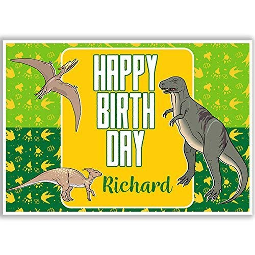 Dinosaur T-Rex and Pterodactyl Birthday Banner Party Decoration Backdrop