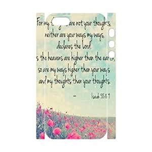 wugdiy Customized Cell Phone 3D Case Cover for iPhone 5,5S with DIY Design christian bible verses