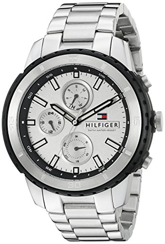 Tommy Hilfiger Men's 1791191 Casual Sport Analog Display Quartz Silver Watch