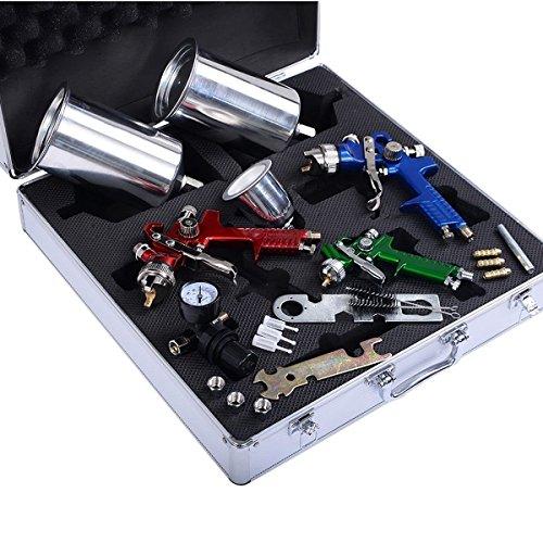 Car Spray Kit Matte: Goplus HVLP Air Spray Gun Set- 3 Sprayguns, Auto Paint