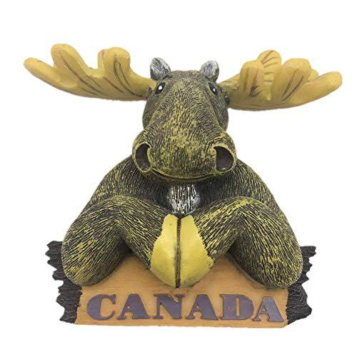 Red Deer Canada Fridge Magnet 3D Resin Handmade Craft Tourist Travel City Souvenir Collection Letter Refrigerator Sticker