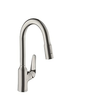 Buy Hansgrohe Focus N High Arc Kitchen Faucet 1 Handle 16 Inch Tall Pull Down Sprayer Easy Clean In Stainless Steel Optic 71800801 Online In Turkey B07ynf8ryz